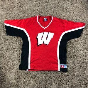 🔥90s Vintage Wisconsin Badgers Shooting Shirt🔥